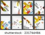 set of flyer templates ... | Shutterstock . vector #231766486