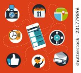 touchscreen smartphone with... | Shutterstock . vector #231779896
