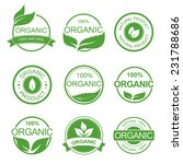 set of fresh organic labels and ... | Shutterstock .eps vector #231788686