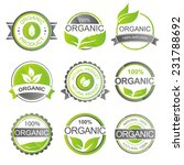 set of fresh organic labels and ... | Shutterstock .eps vector #231788692