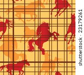 seamless pattern with horses... | Shutterstock .eps vector #23179261