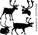 reindeer   vector silhouettes...   Shutterstock .eps vector #231795406