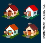 isometric house illustration... | Shutterstock .eps vector #231807766