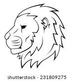lion head tattoo illustration   Shutterstock . vector #231809275