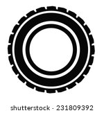 Vector Black Road Tire Icon On...