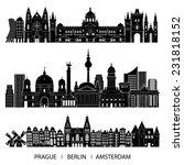 skyline set  prague  berlin ... | Shutterstock .eps vector #231818152