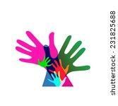 children and adults hands... | Shutterstock .eps vector #231825688