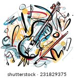 violin sketch | Shutterstock .eps vector #231829375