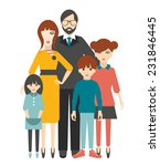 family. flat people group.  | Shutterstock .eps vector #231846445