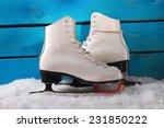Pair Of White Ice Skates For...