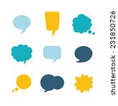 set of nine colorful speech... | Shutterstock . vector #231850726