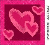 vector. illustrated valentine's ... | Shutterstock .eps vector #23185669