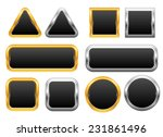 set of golden and silver web... | Shutterstock .eps vector #231861496