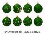 christmas ball green gold | Shutterstock . vector #231865828