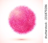 Pink Fluffy Vector Isolated...