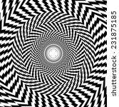 optical illusion zoom black and ... | Shutterstock . vector #231875185