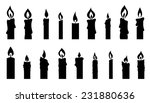 Candle Silhouettes On The Whit...