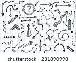 hand drawn simple arrows set... | Shutterstock .eps vector #231890998