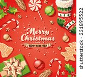 christmas decorations card | Shutterstock .eps vector #231895522