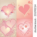 set of hearts to the valentine... | Shutterstock .eps vector #23190214