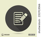 pictograph of note | Shutterstock .eps vector #231913066