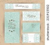 wedding set. wedding invitation ... | Shutterstock .eps vector #231915502