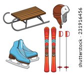 winter sports collection....   Shutterstock .eps vector #231916456