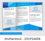template design of blue trifold ... | Shutterstock .eps vector #231916606