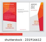 template design of red trifold... | Shutterstock .eps vector #231916612
