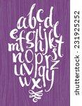 vector alphabet. white letters... | Shutterstock .eps vector #231925252