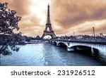 Eiffel Tower From Seine Winter - Fine Art prints