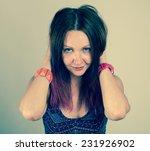 studio portrait of a beautiful... | Shutterstock . vector #231926902