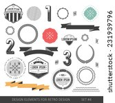 hipster style infographics... | Shutterstock .eps vector #231939796
