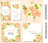 wedding invitation cards with... | Shutterstock .eps vector #231940402