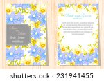wedding invitation cards with... | Shutterstock .eps vector #231941455