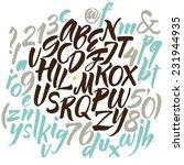alphabet letters  lowercase ... | Shutterstock .eps vector #231944935