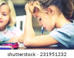 siblings are doing his homework ... | Shutterstock . vector #231951232