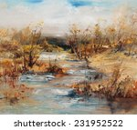 Landscape With Bushes And A...