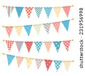 vector triangle bunting flags.  | Shutterstock .eps vector #231956998