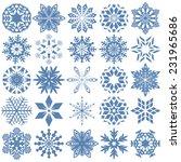 set of twenty five blue...   Shutterstock .eps vector #231965686