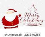 santa claus with merry... | Shutterstock .eps vector #231970255