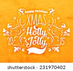christmas typographic label for ... | Shutterstock .eps vector #231970402