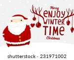 santa claus with merry... | Shutterstock .eps vector #231971002