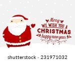 santa claus with merry... | Shutterstock .eps vector #231971032