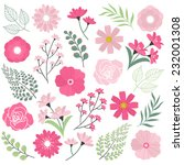 pink wedding flowers | Shutterstock .eps vector #232001308