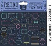 retro design elements hipster... | Shutterstock .eps vector #232006546