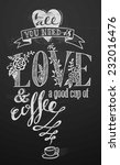 hand drawn love banner on... | Shutterstock .eps vector #232016476