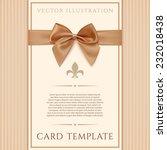 Vintage Greeting Card Template...