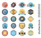 pet badge flat banner design... | Shutterstock .eps vector #232022032