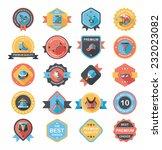 sport badge flat banner design...   Shutterstock .eps vector #232023082
